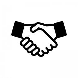 Illustration of a handshake to show that financial services industry is relationship business-1