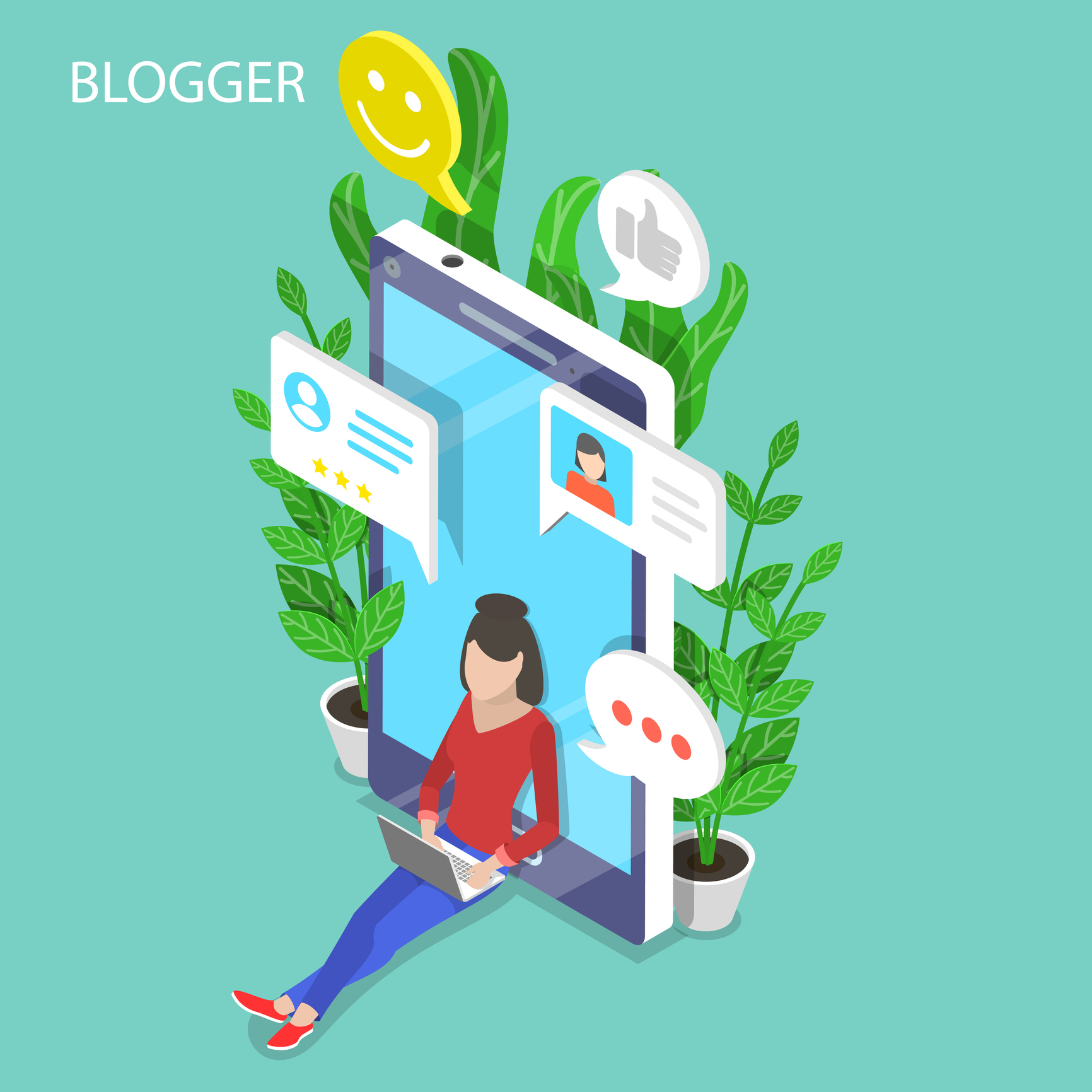 Isometric-flat-vector-concept-of-blogger,-commercial-blog-posting,-copywriting,-content-marketing-strategy.-1045287696_1735x1735