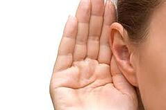 An illustration of an ear Listening