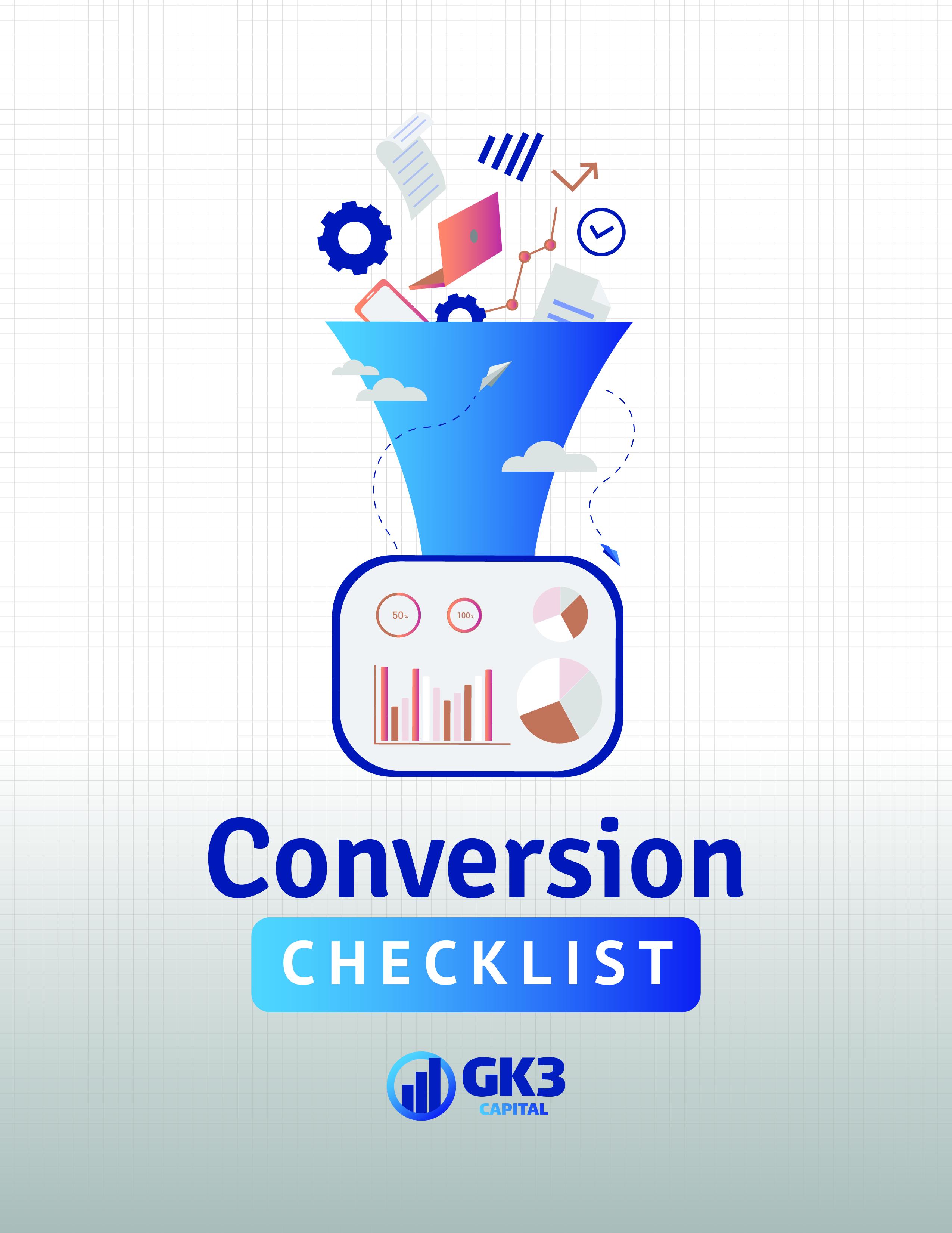Conversion Checklist Cover
